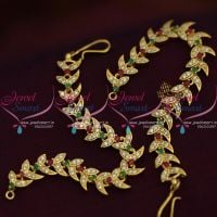 ruby-green-white-stones-ear-kanchain-mattal-earchains-buy-online-new-designs-traditional-jewellery