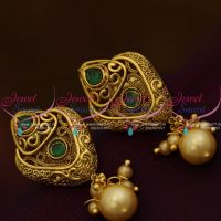 green-stones-pearl-drops-handmade-gold-design-light-weight-antique-earrings