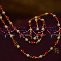 coral-pearl-mala-combined-cap-beaded-chain-28-inches-length-online
