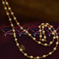 CS9276 Pearl String Mala Combined Cap Beaded Chain 28 Inches Length Online