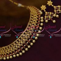 ruby-white-pearl-drops-choker-necklace-all-neck-size-gold-plated-jewellery-online