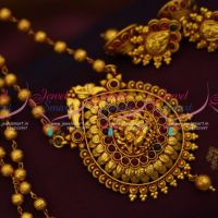 gheru-reddish-gold-plated-temple-design-traditional-antique-jewellery-pendant-set