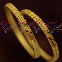 gold-plated-matte-finish-light-weight-2-pieces-set-bangles-shop-online-latest-jewellery