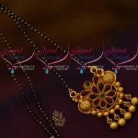 black-beads-nalla-pusalu-karugamani-mala-mangalsutra-matte-finish-gold-plated