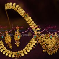 one-gram-peacock-design-chain-temple-pendant-short-necklace-traditional-gold-one-gram-jewellery