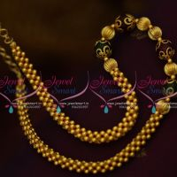 gold-colour-beaded-jali-mala-red-green-combination-simple-design-chain-handmade-online
