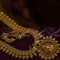 NL9803 Antique Gold Plated Haram Temple South Traditional Jewellery Shop Online