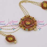 H9768 Hair Decoration Nagas Reddish Gold Plated Temple Pendants Pearl Chain Online