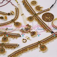 D9753 Classical Dance Kemp Jewellery Set Bharatanatyam South Indian Collections Online