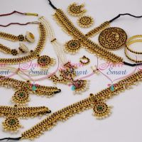 D9754 Kemp Temple Full Jewellery Set Classical South Indian Dance Collections Online