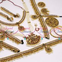 D9755 South Indian Classical Dance Kemp Jewellery Set Shop Online