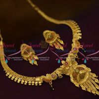 NL9725 Thin Design Small Size Short Necklace Forming Gold-Plated Jewellery Online