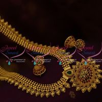 NL9873 South Indian Kerala Traditional Design Kemp Long Necklace Beads Model Jewellery