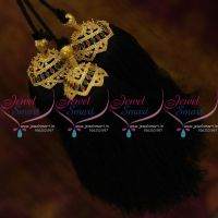 JK9894 Hair Jada Art Silk Yarn Kuppulu South Indian Jewellery Semi Precious Marquise Stones