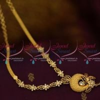 NL10005 AD White Stones Floral Casting Gold Design South Indian Jewellery Collections