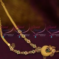 NL10006 Multi Colour Semi Precious Stones Gold Plated Casting Necklace Shop Online