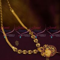 NL10012 Ruby Stones Casting Design Gold Plated Short Necklace Casual Wear Low Price Online