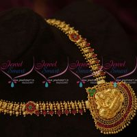 NL9943 Kemp Temple Jewellery Gheru Gold Plated Haram Traditional Designs South Indian Online