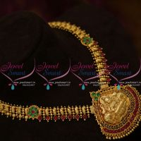 NL9945 Latest South Indian Traditional Kemp Jewellery Haram Handmade Collections Online