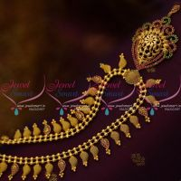 NL9983 South Indian Traditional Gold Design Mango Mala Haram Handmade Jewellery Collections