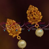 ER9861 Matte Gold Finish Temple Small Size Ear Studs Shop Online Low Price
