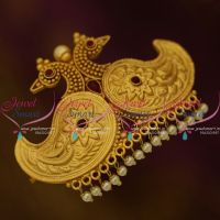 H9899 Peacock Design Nakshi Matte Gold Plated Latest Hair Clips Imitation Jewellery Online