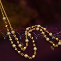 Pearl Beads Link Chain 28 Inches Length South Indian Casual Wear Collections CS30SM1016