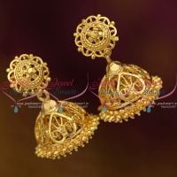 J10043 Traditional Gold Design Screw Back Jimikki Thodu Small Size Low Price Buy Online