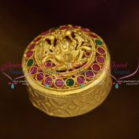 S0028 One Gram Temple Lakshmi God Design Round Sindoor Box Kunguma Chimizh Online