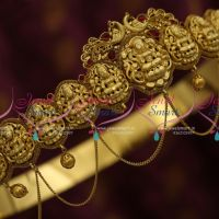 H9828 Temple Antique Gold 31 to 37 Inches Oddiyanam Adjustable Size Buy Online Traditional Jewellery