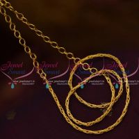 Fancy Design Short Chain Back Adjustable Rings Suitable Pendant Sets Daily Wear Jewellery