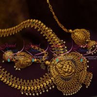 Antique Temple Wedding Jewellery Long Necklace Haram Traditional South Indian Collections Online