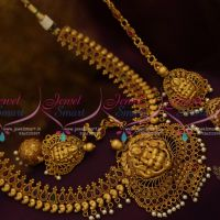 South Indian Traditional Wedding Jewellery Grand Necklace Earchain Jhumka Online