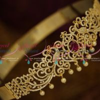 Small Size Baby Girl Vaddanam 21-26 Inches CZ Peacock Hip Belt Collections Online