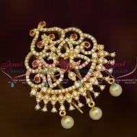 CZ Ruby White Hair Jewellery Decoration Choti Single Piece Premium Imitation Online