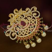 Peacock Design Hair Decoration U Pin Choti Multi Colour Grand Imitation Accessory Online