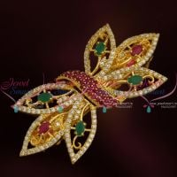 Leaf Design AD Semi Precious Stones Diamond Matching Hair Clips Buy Online