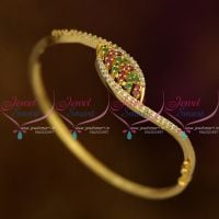 Small Size Fancy AD Ruby Green White Thin Open Type Bracelets Stylish Fashion Jewellery Buy Online