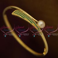 Emerald Green Small Size Stylish Smooth Finish Open Type Bracelets Fashion Jewellery Buy Online