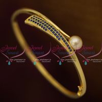 Sapphire Blue Stones Small Size Stylish Smooth Finish Open Type Bracelets Fashion Jewellery Buy Online
