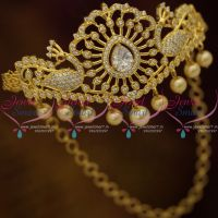 Rull AD White Gold Plated Semi Precious Stones Peacock Chain Vanki Adjustable Size Buy Online