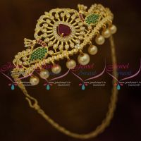 AD Fancy Peacock Armlet Jewellery Gold Plated Wedding Imitation Collections Online