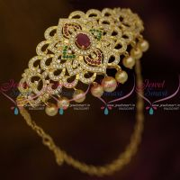 Chain Vanki Bajuband Latest Adjustable Size Sparkling Stones Gold Plated Ethnic Jewellery