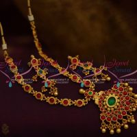 South Indian Traditional Kemp Necklace Matte Finish Handmade Imitation Jewellery Online