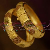 Broad Screw Open Forming Gold Plated Bangles Latest Rich Look Jewellery Online