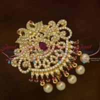Small Size Ruby White Peacock Hair Decoration U Pin Choti CZ Matching Imitation Accessory