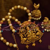 Antique Beaded Nagas Temple Jewellery Matte Gold Latest Real Look Design Collections Online