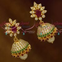 Beautiful Look Small Size Gold Finish Fashion Jewellery Collections Imitation Jhumki Online
