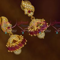 Ruby White Beautiful Marquise AD Small Size Fashion Jewellery Collections Imitation Jhumki Online
