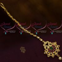 AD Marquise Multi Colour Stones Latest Design Forehead Jewellery Nethichutti South Indian Online